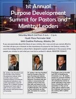 Purpose Development Summit for Pastors