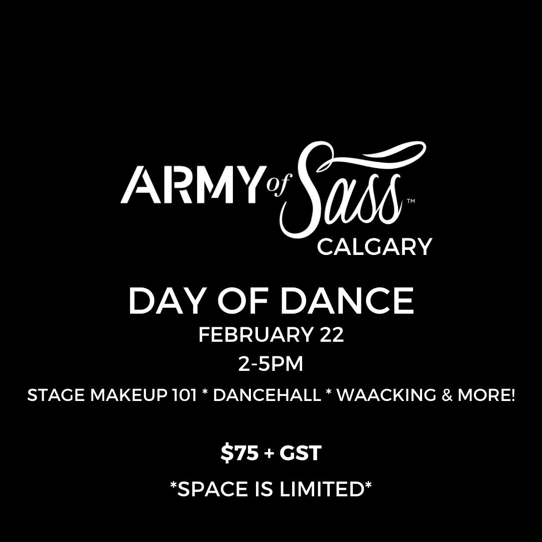 Army of Sass Calgary Day of Dance!