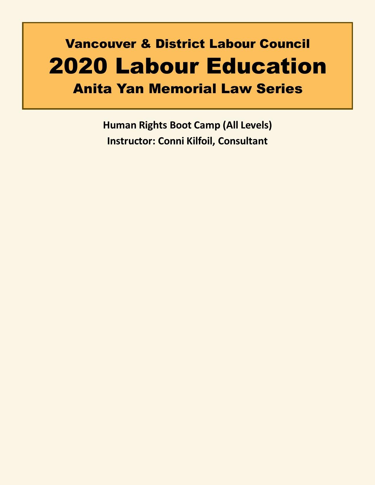 Human Rights Boot Camp (All Levels)