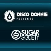 Disco Donnie Presents and Sugar Society logo