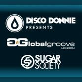Disco Donnie Presents, Global Groove Events, and Sugar Society  logo