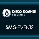 Disco Donnie Presents, SMG Events, and Plum logo