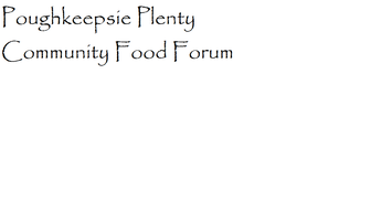Community Food Forum