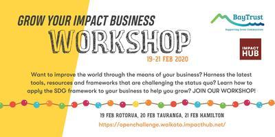 Grow Your Impact Business Workshop - Rotorua