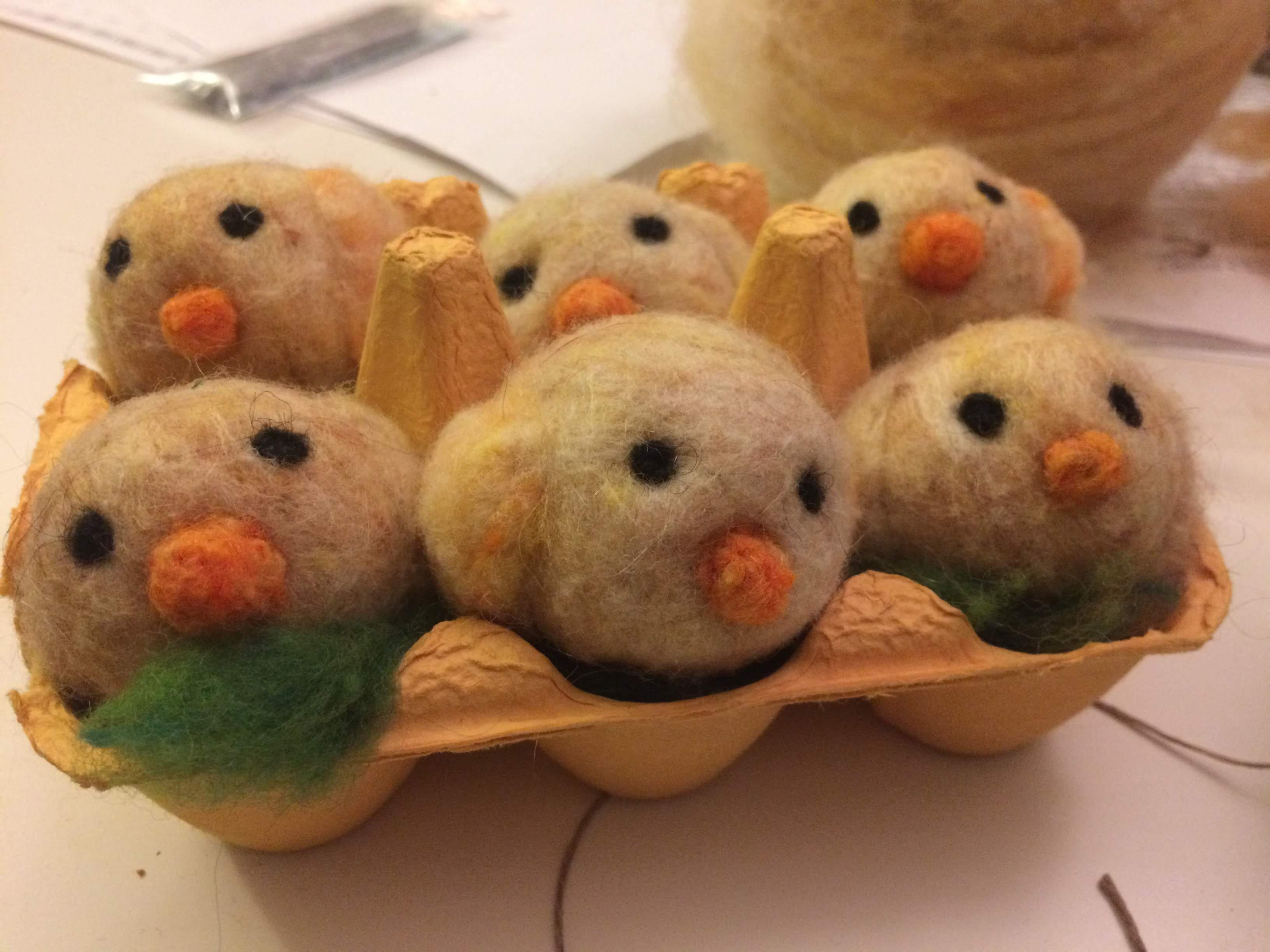 Felting Spring Eggs and Chicks
