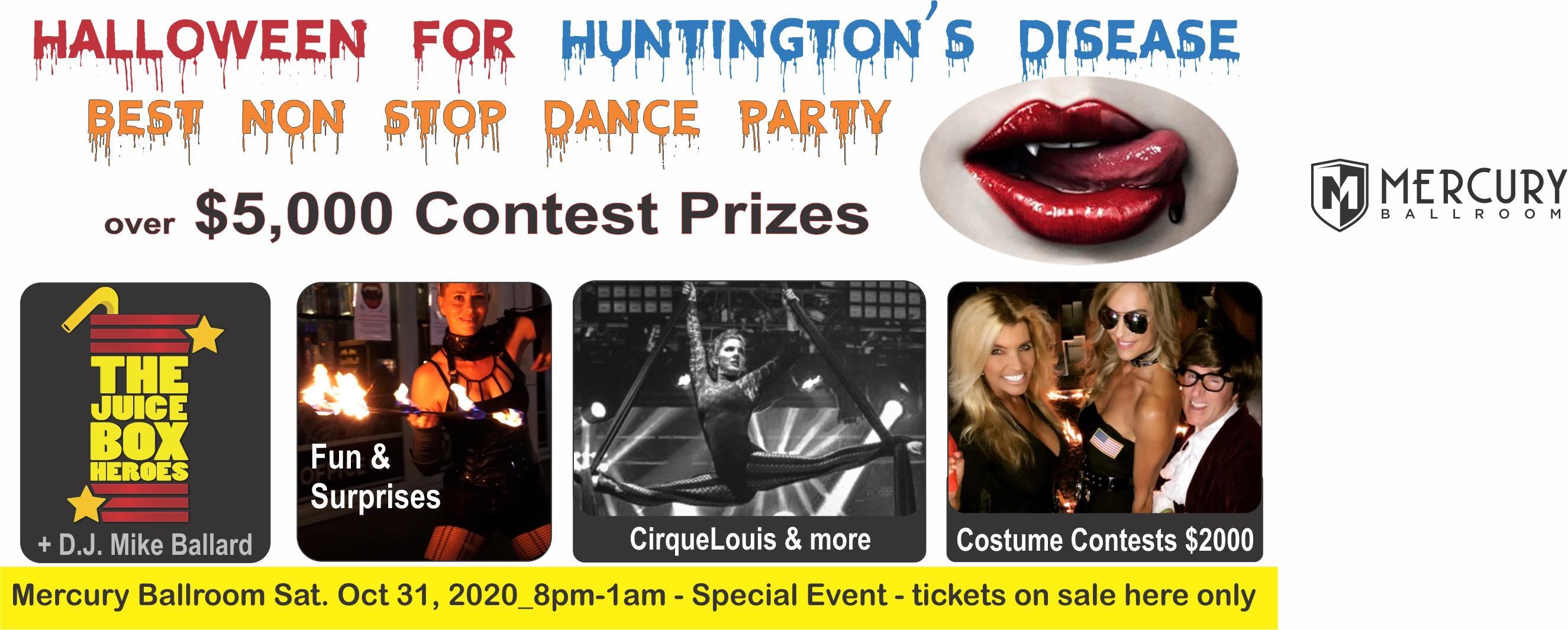 Halloween Dance Party 2020 Halloween for Huntington's Disease   Mercury Ballroom Dance Party