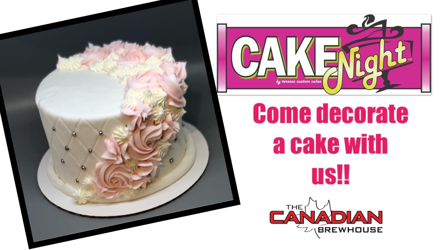 CakeNight - Downtown Edmonton - Quilted Rosette Cake