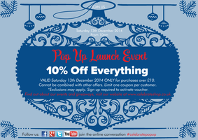 Celebrate Pop Up Launch Event