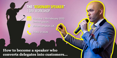 """THE """"VISIONARY SPEAKER"""" 1-Day Workshop 