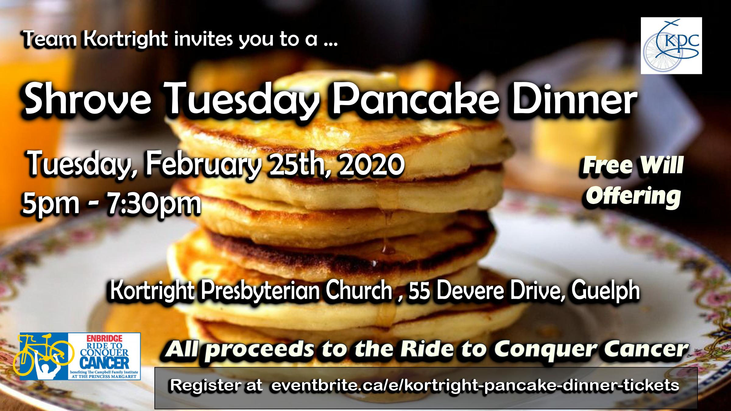 Kortright Pancake Dinner