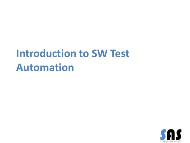 Introduction To Software Test Automation 1 Day Training in Berlin
