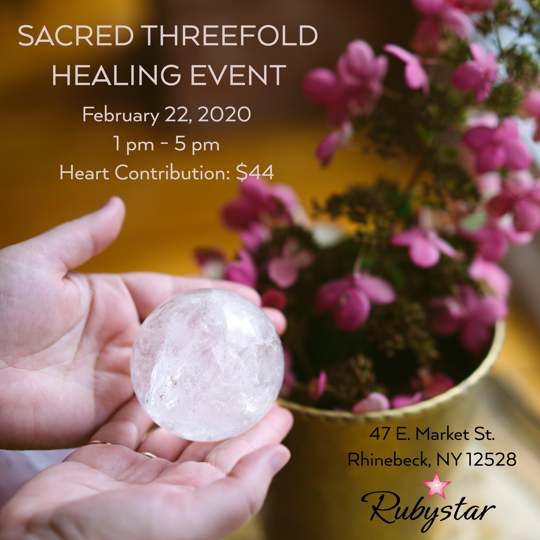 Threefold Sacred Healing Event