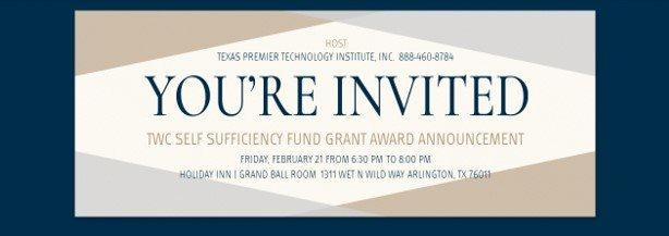 TWC Self Sufficiency Fund Grant Award Announcement
