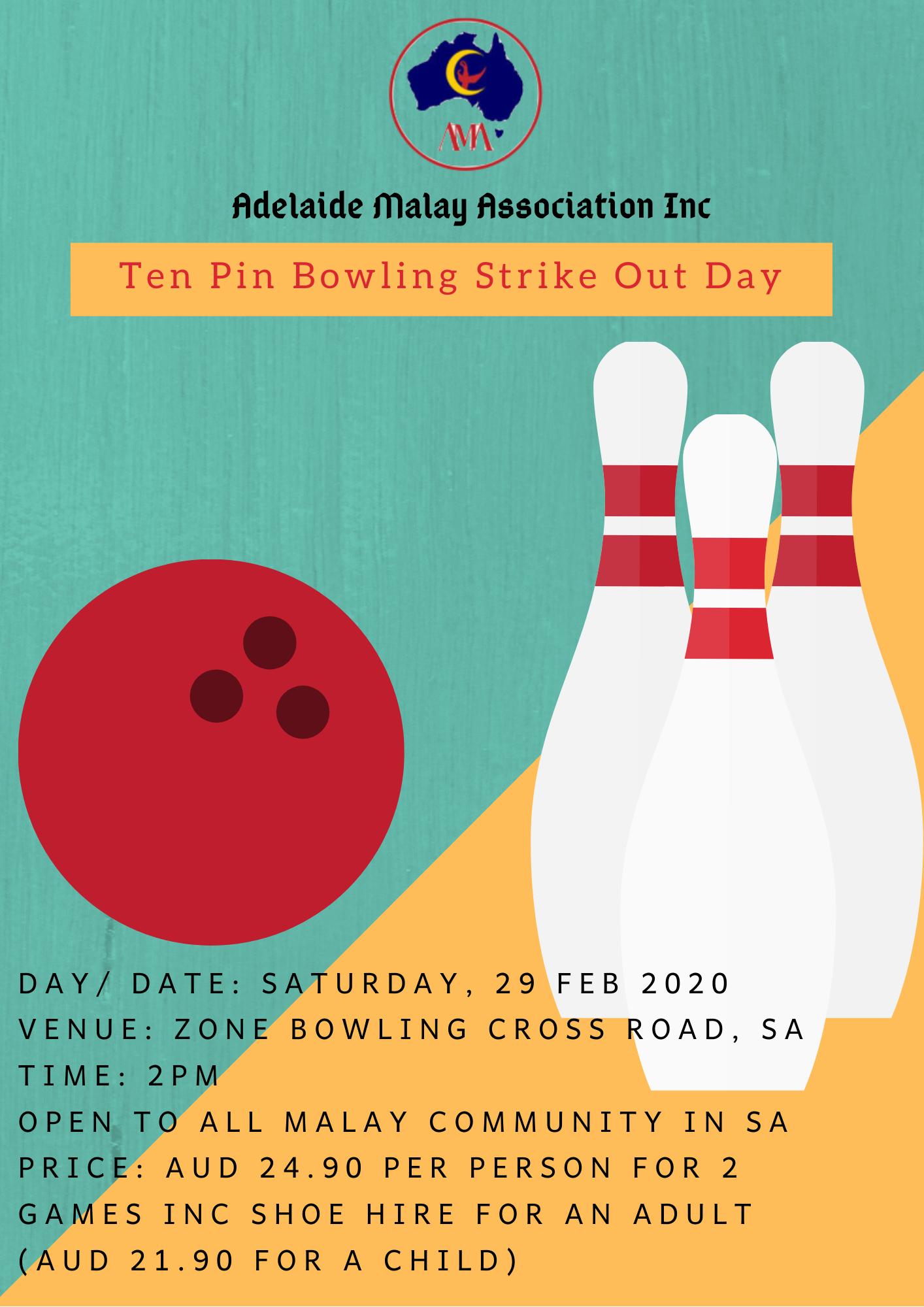 Ten Pin Bowling Strike Out Day