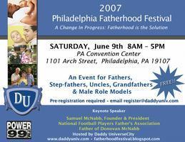 2007 Philadelphia Fatherhood Festival