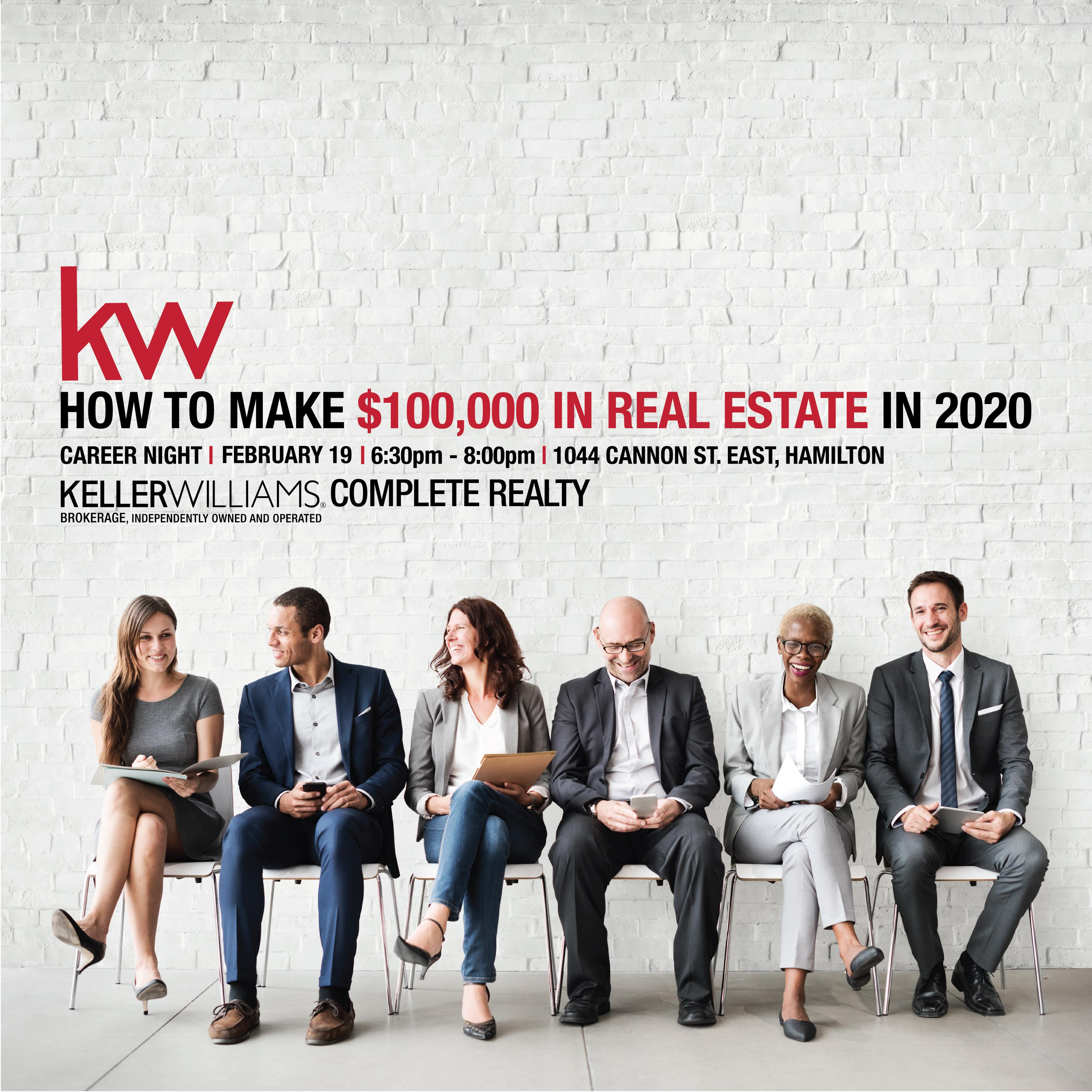 Career Night | How To Make $100,000 In Real Estate
