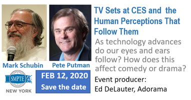 February 2020 SMPTE NY Meeting:  CES TVs and the Human...