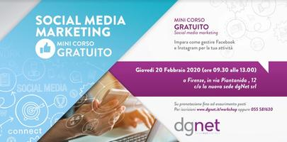 Corso gratuito dgNet Social Media Marketing