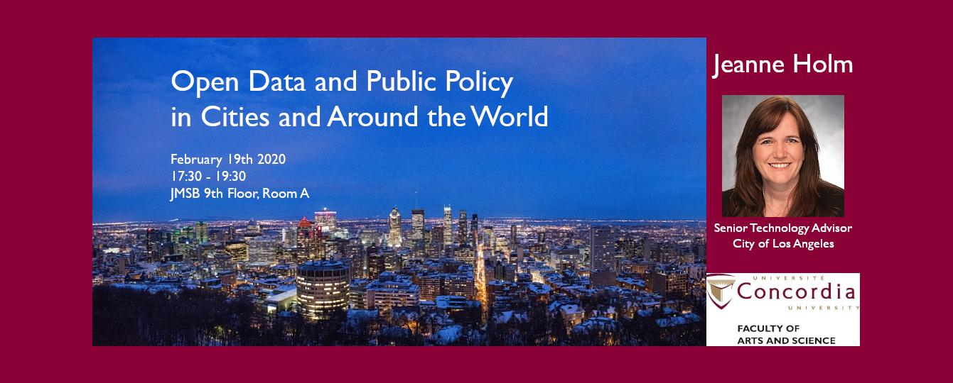Jeanne Holm: Open Data and Public Policy- in cities and around the world