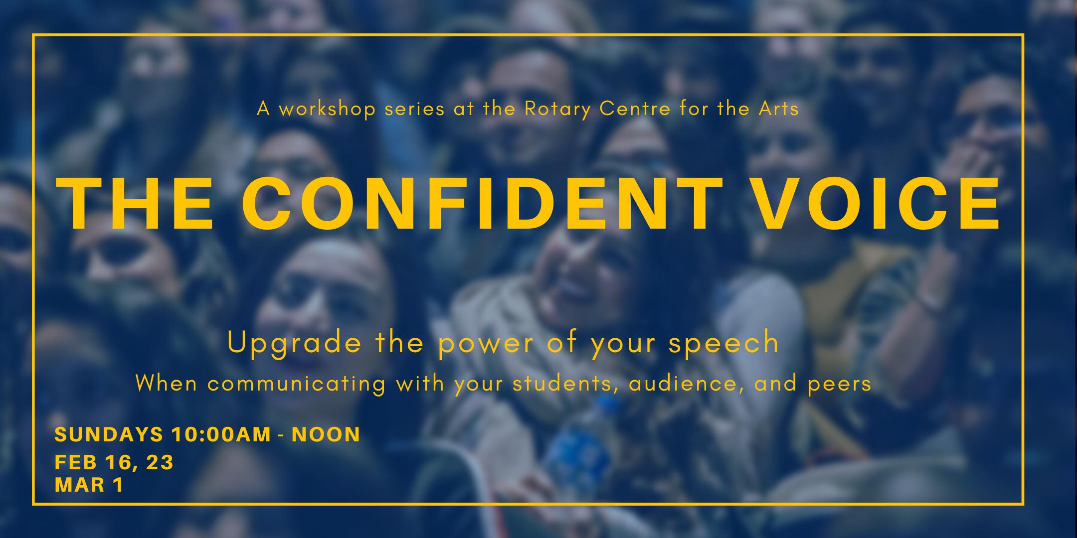 The Confident Voice Workshop Series
