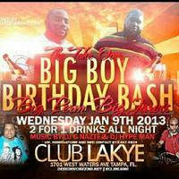 Team Gladiator Presents The Big Boy Bday Bash **Take Over...