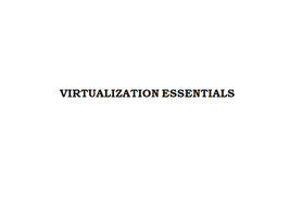 Virtualization Essentials 2 Days Training in Paris