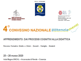 4° Convegno Nazionale Potenziamenti, 25-26 Marzo 2020
