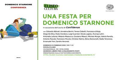 Eliseo Cultura: Una festa per Domenico Starnone