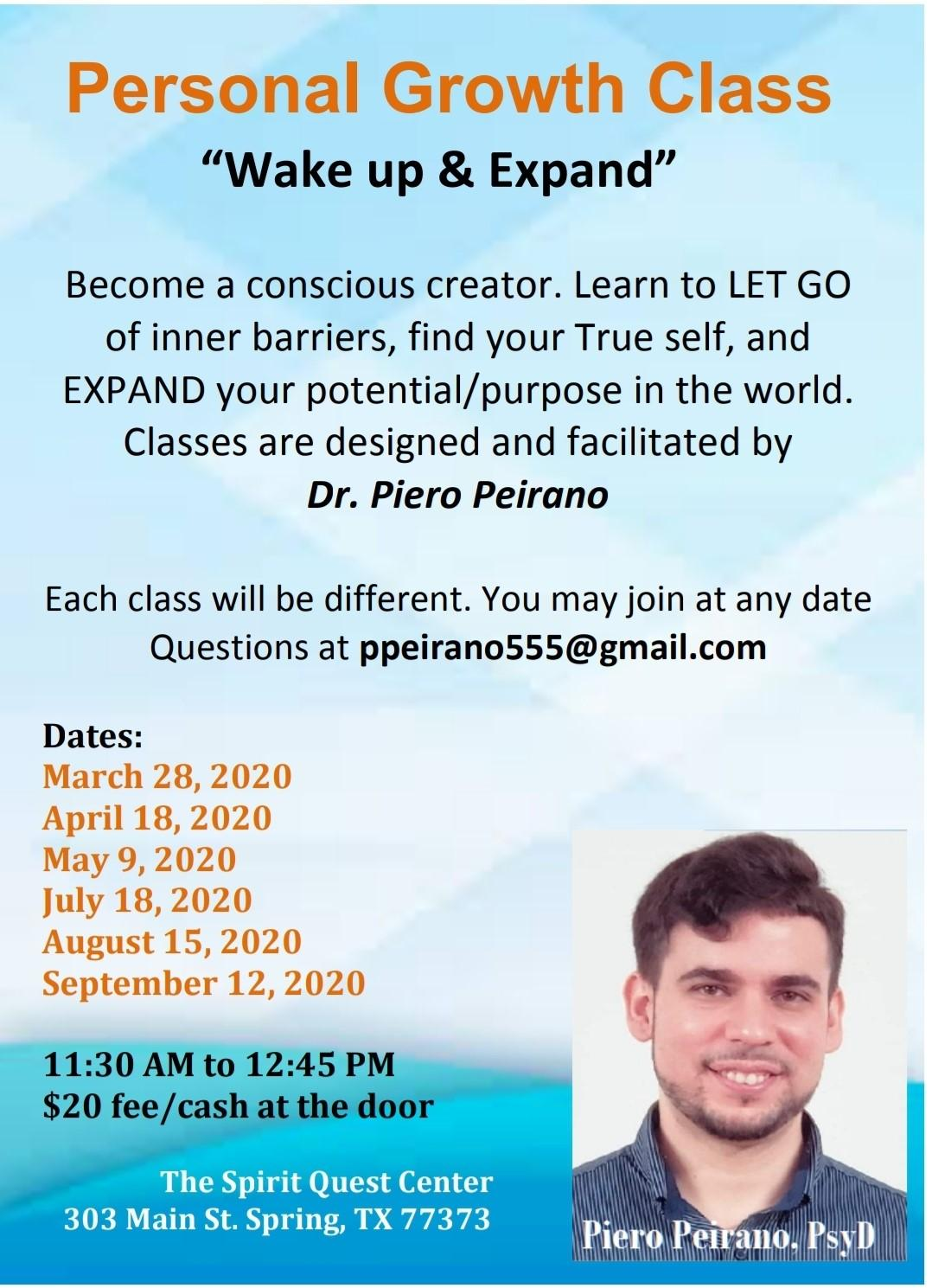 Personal Growth Class: Wake Up & Expand