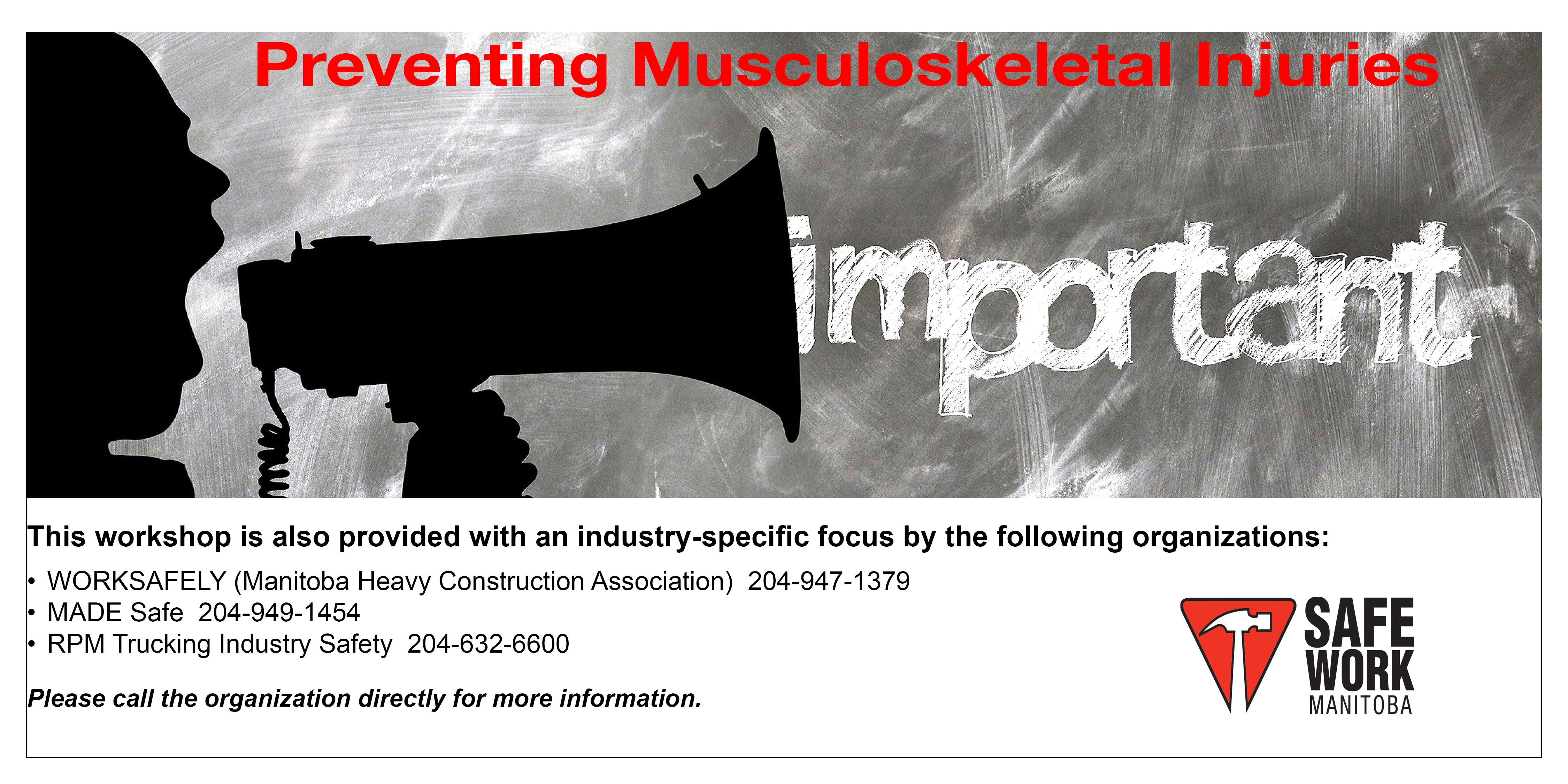 Preventing Musculoskeletal Injuries - Winnipeg, MB