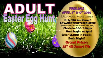 POSTPONED-ADULT Easter Egg Hunts 2020 DATE TBA