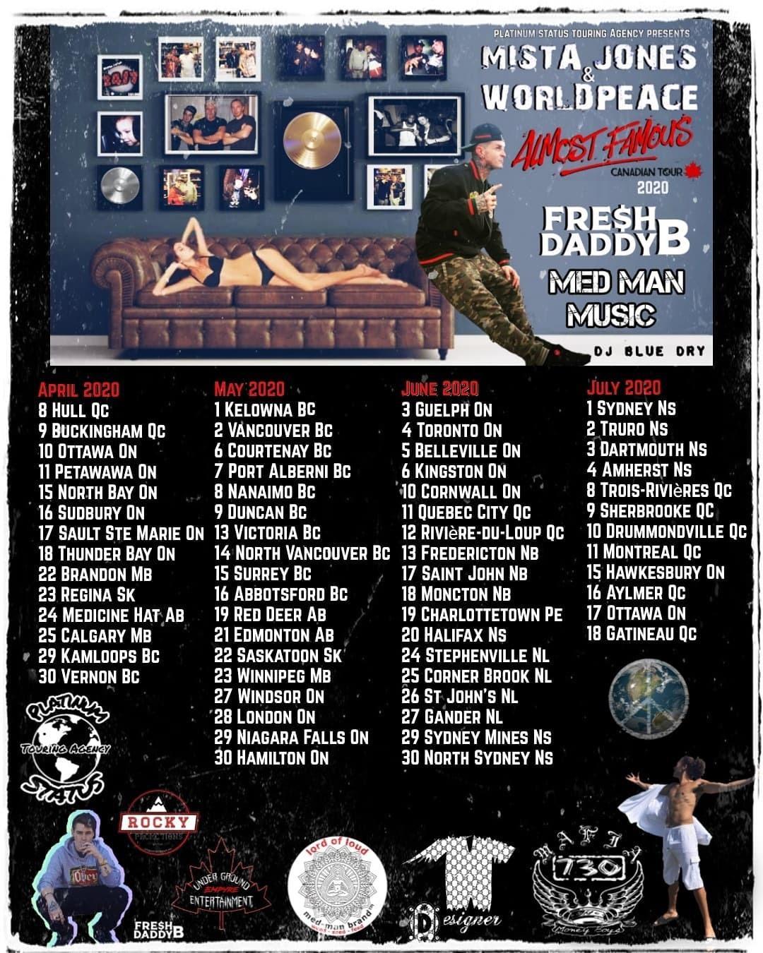 Mista Jones Almost Famous Tour Live In Ottawa, ON 10/4/2020