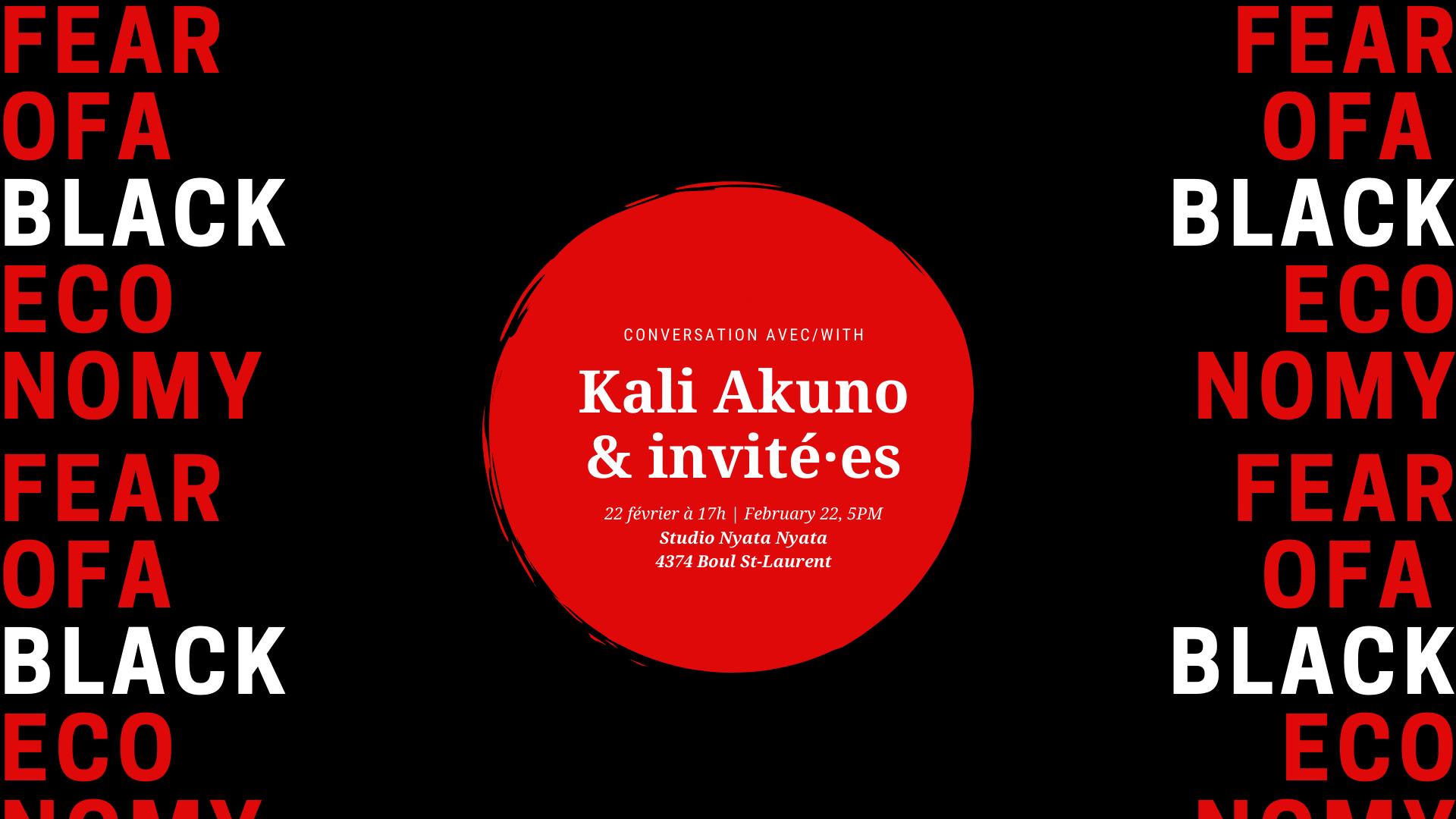 Fear of a Black Economy: Conversation avec Kali Akuno & invité·e·s