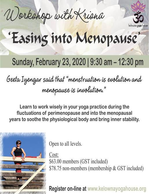 Easing into Menopause workshop with Krisna