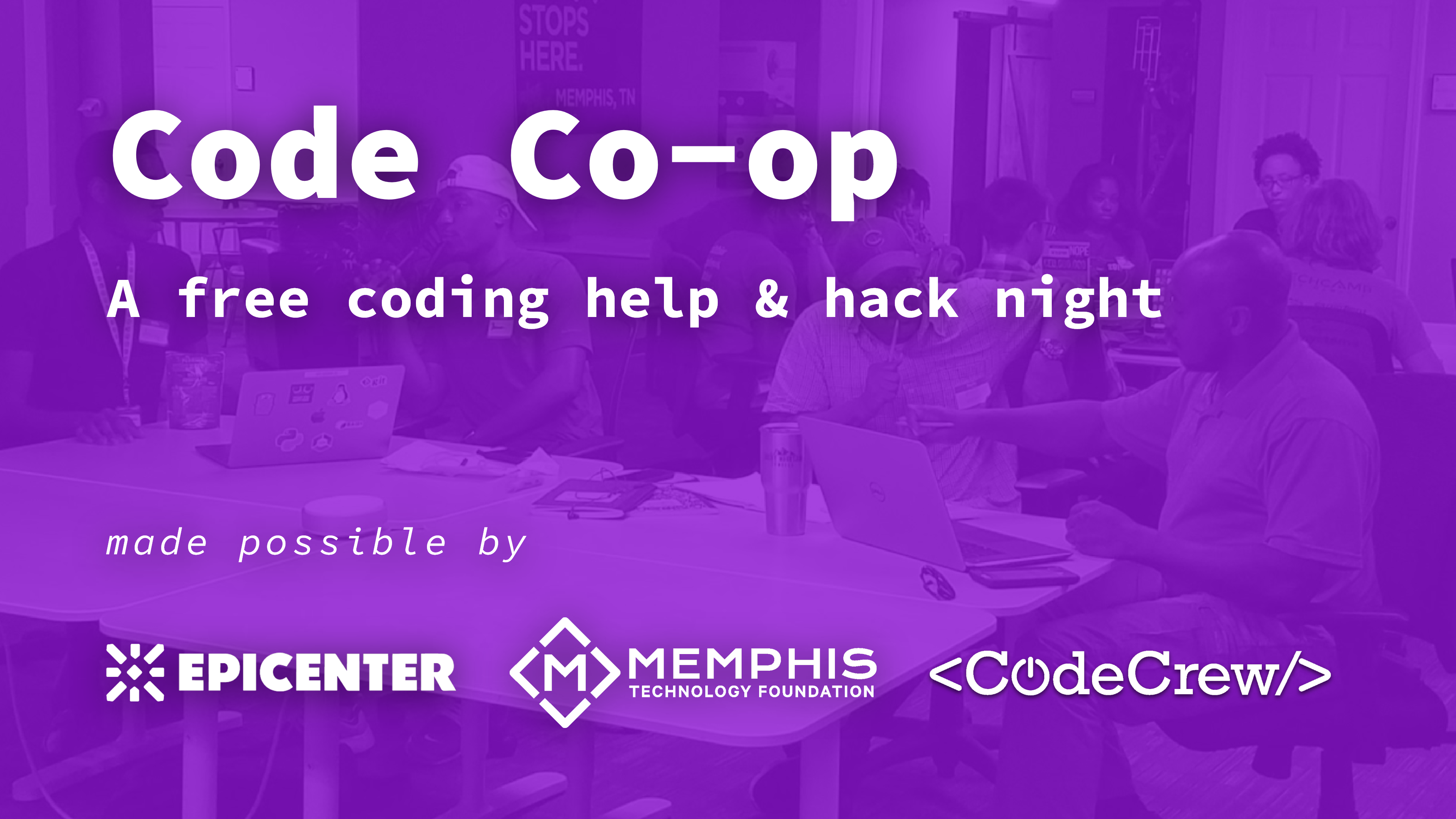 Code Co-op | Memphis - A free coding help & hack night