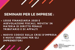 LEGGE BILANCIO 2020: MISURE FISCALI E NOVITA' SU...