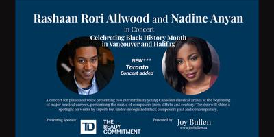 Rashaan Rori Allwood and Nadine Anyan in concert for Bl...