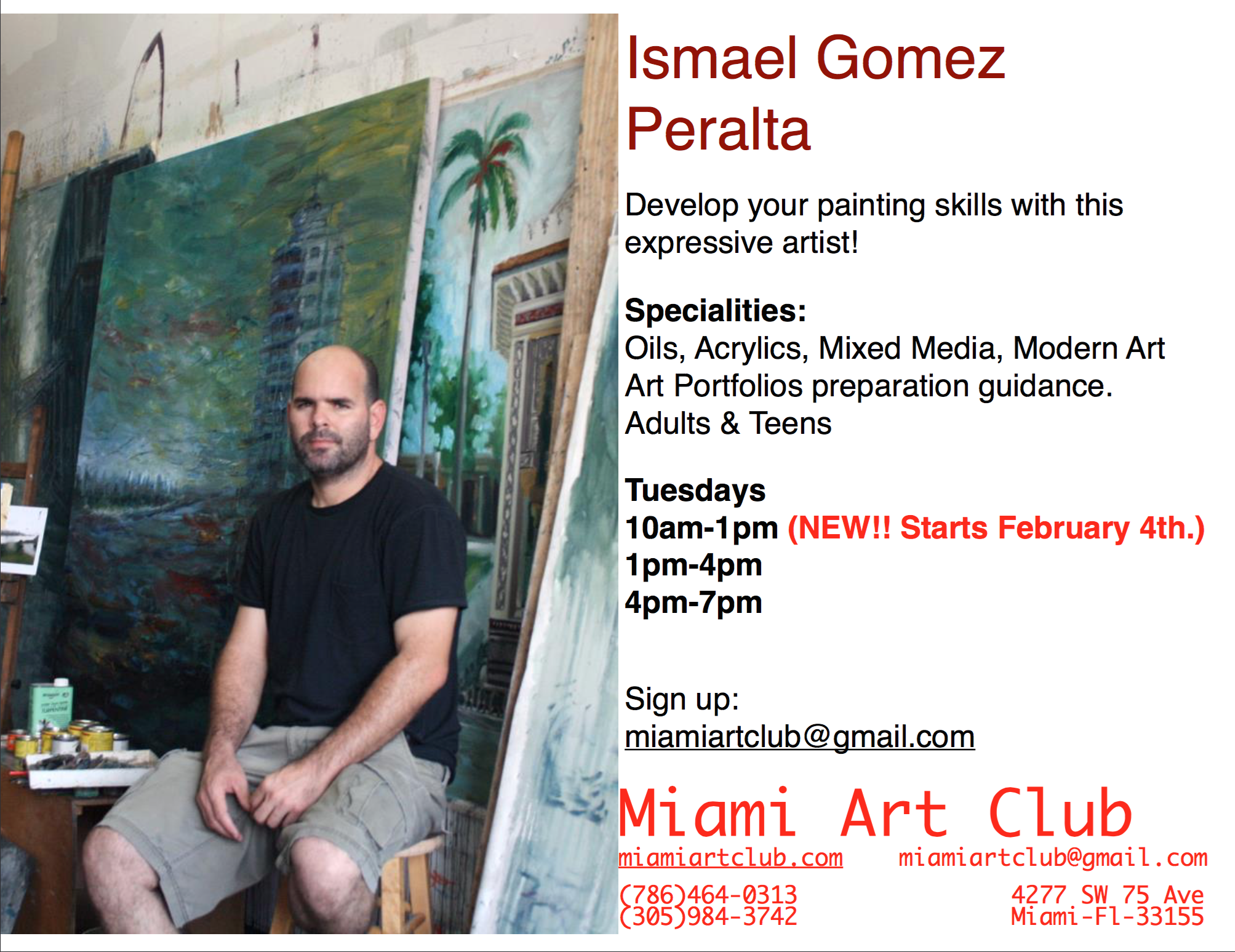 Painting & Drawing Classes with Art Teacher Ismael Gomez Peralta