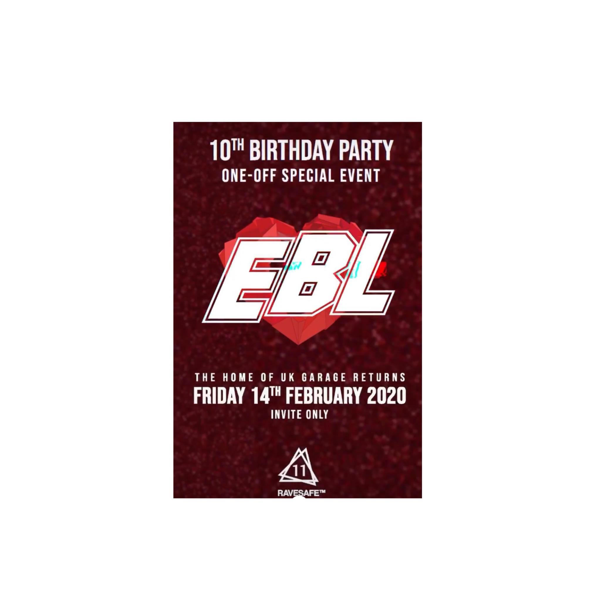 EBL 10th birthday party