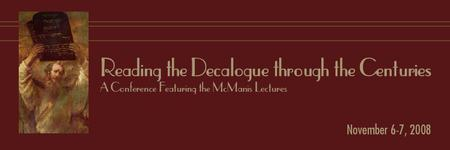 Reading the Decalogue Through the Centuries: A Conference...