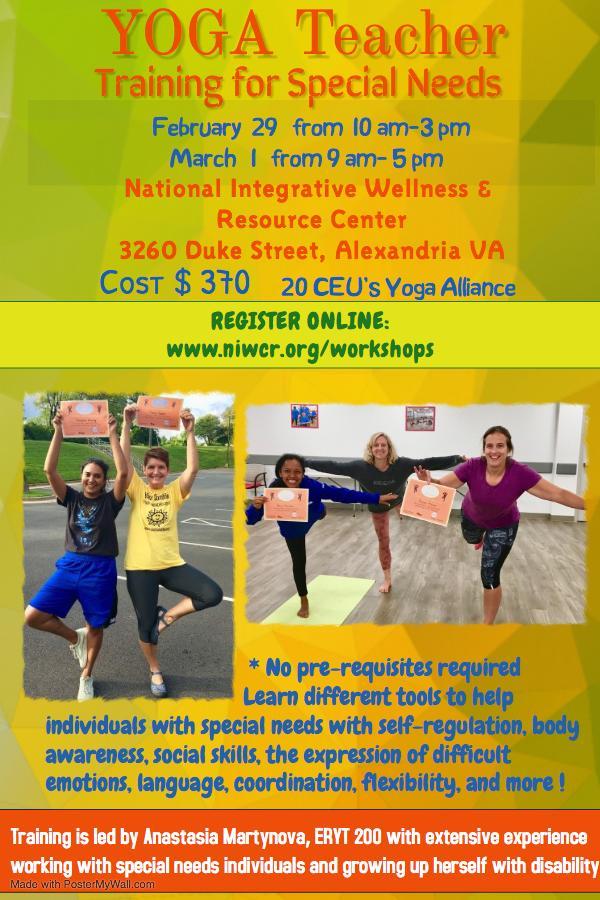 Yoga Teacher Training For Special Needs 20 Ceu S 29 Feb 2020