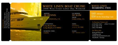 THE 3RD ANNUAL WHITE LINEN BOAT CRUISE PARTY 2008