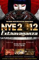 NYE 2012 EXTRAVAGANZA @ GEISHA HOUSE 18+