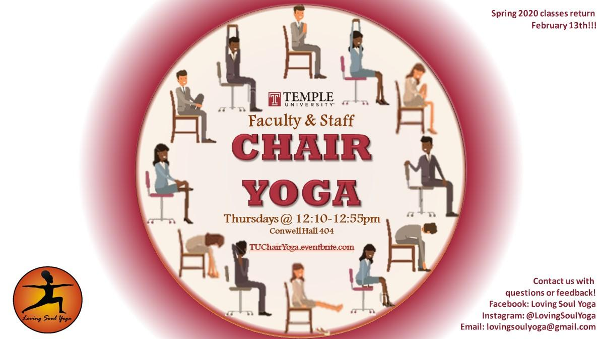 Chair Yoga Thursdays - Temple University Faculty & Staff ONLY