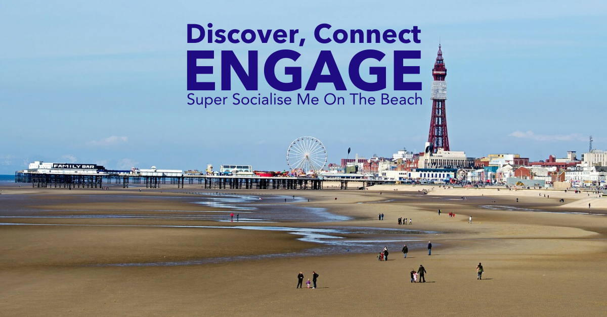 Super Socialise Me On The Beach - Blackpool