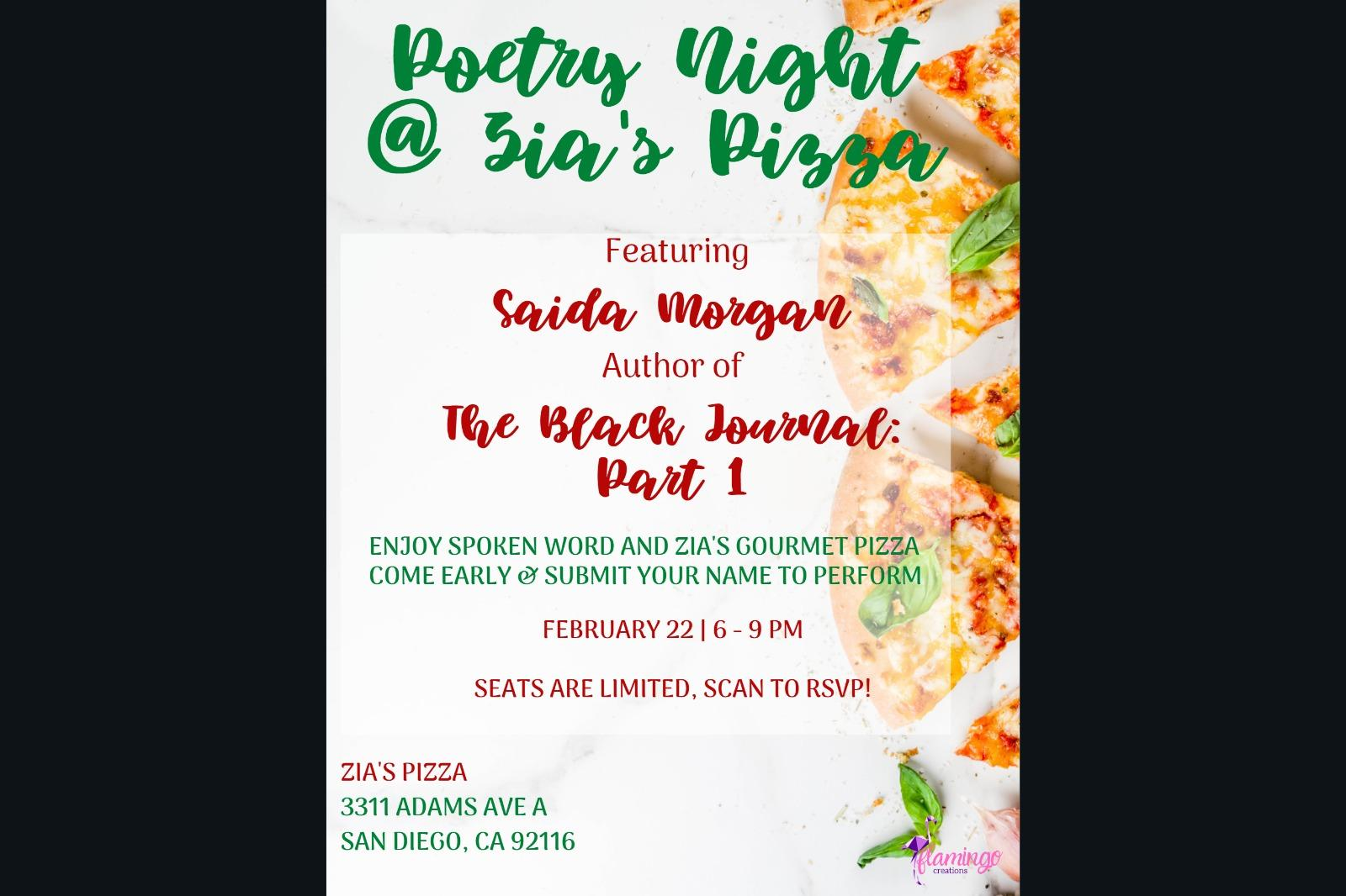 Pizza and Poetry at Zia's Gourmet Pizza