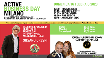 Active Business Day Milano - 16 Febbraio 2020