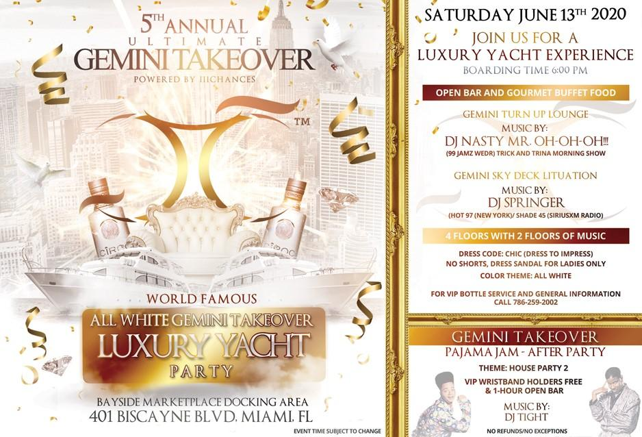 All-White Gemini Takeover Luxury Yacht Experience!