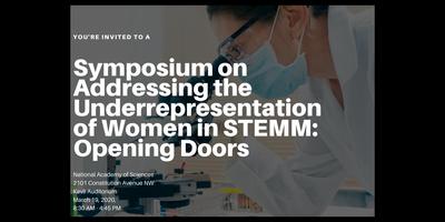 Symposium on Addressing the Underrepresentation of Wome...