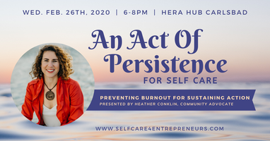 Act of Persistence: Preventing Burnout to Sustain...